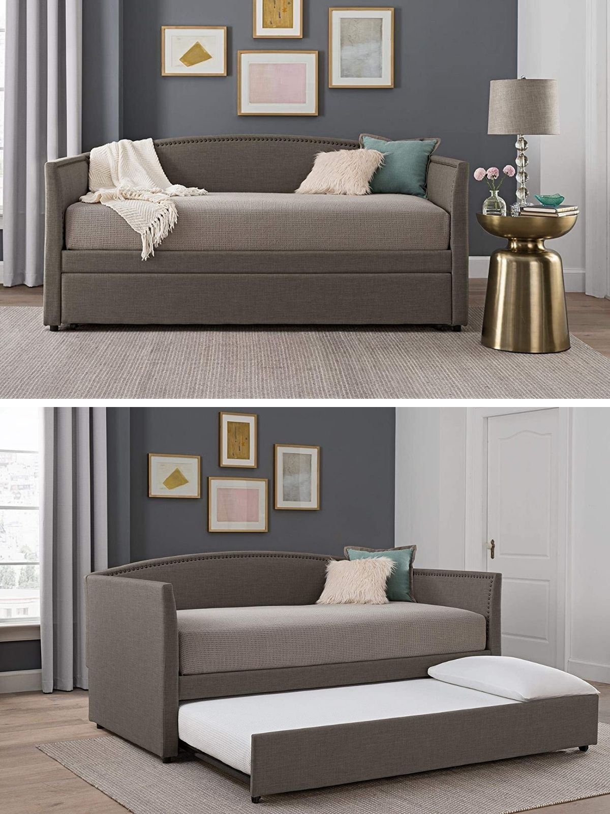 daybed grey - 20 delightful daybeds that easily convert into comfortable beds
