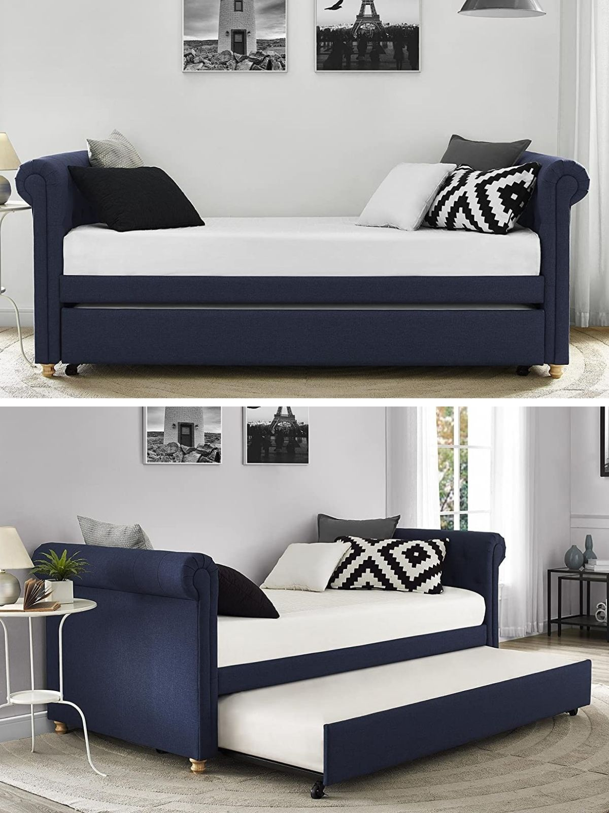 daybed navy - 20 delightful daybeds that easily convert into comfortable beds