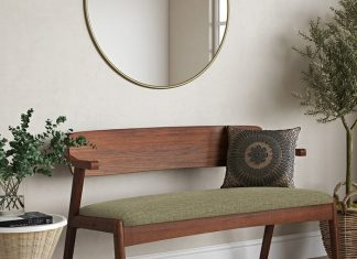entryway bench 68 324x235 - Secluded wilderness cabins offer a fantastic view of the Cornish landscape
