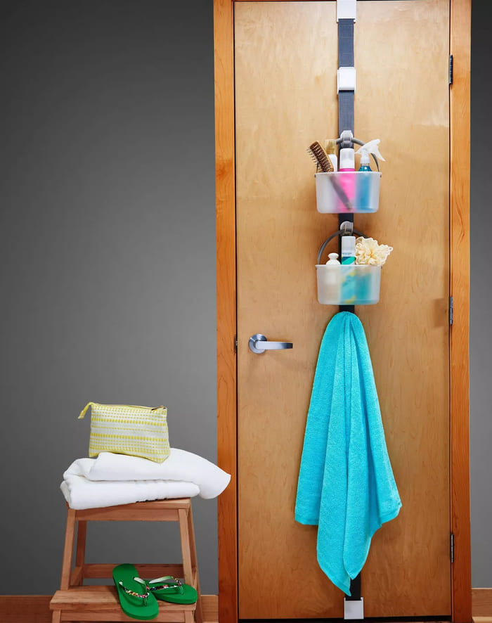over door storage - 30 brilliant organizing ideas for your small bathroom 2021