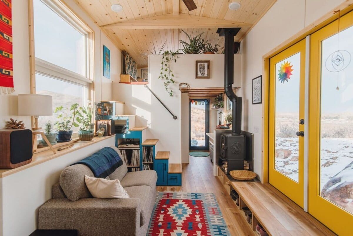 tiny house 10 - This luxurious tiny house does not hold back on function - it even has a mudroom