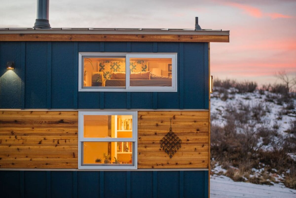 tiny house Exterior Decorative Close up - This luxurious tiny house does not hold back on function - it even has a mudroom