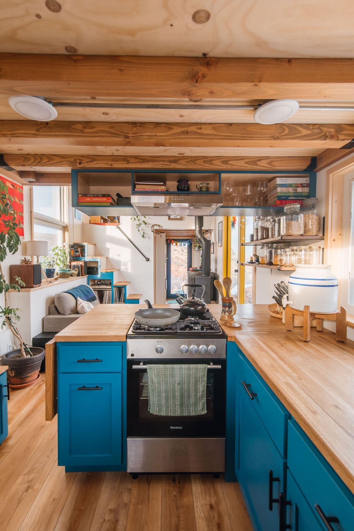 tiny house Kitchen 6 - This luxurious tiny house does not hold back on function - it even has a mudroom