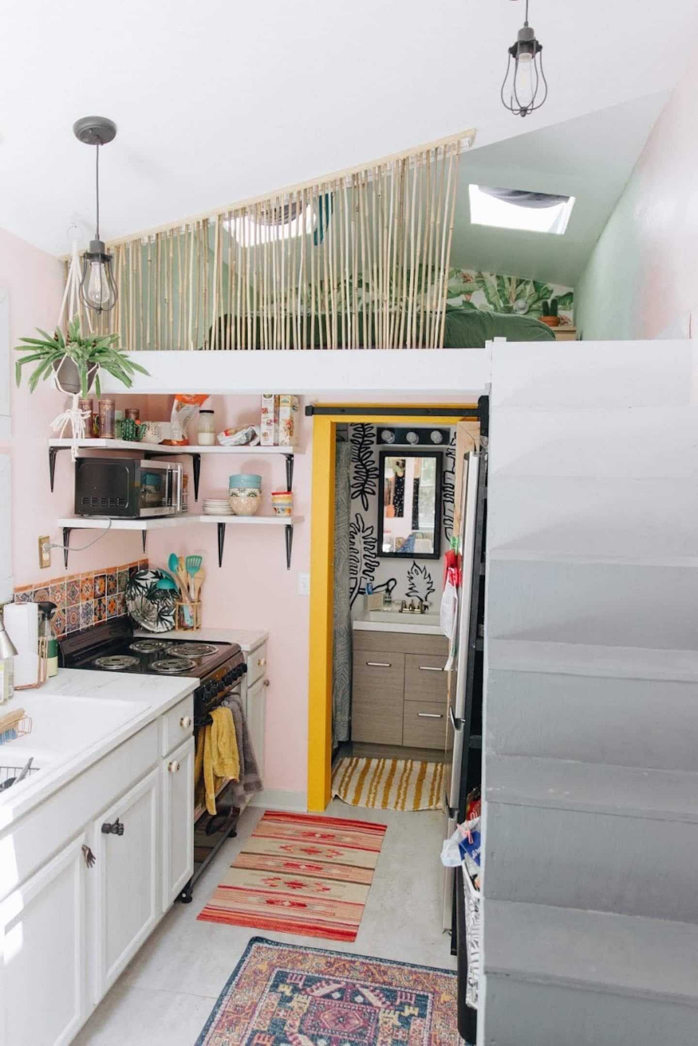 tiny house stairs - Tropical tiny house offers visitors a creative getaway