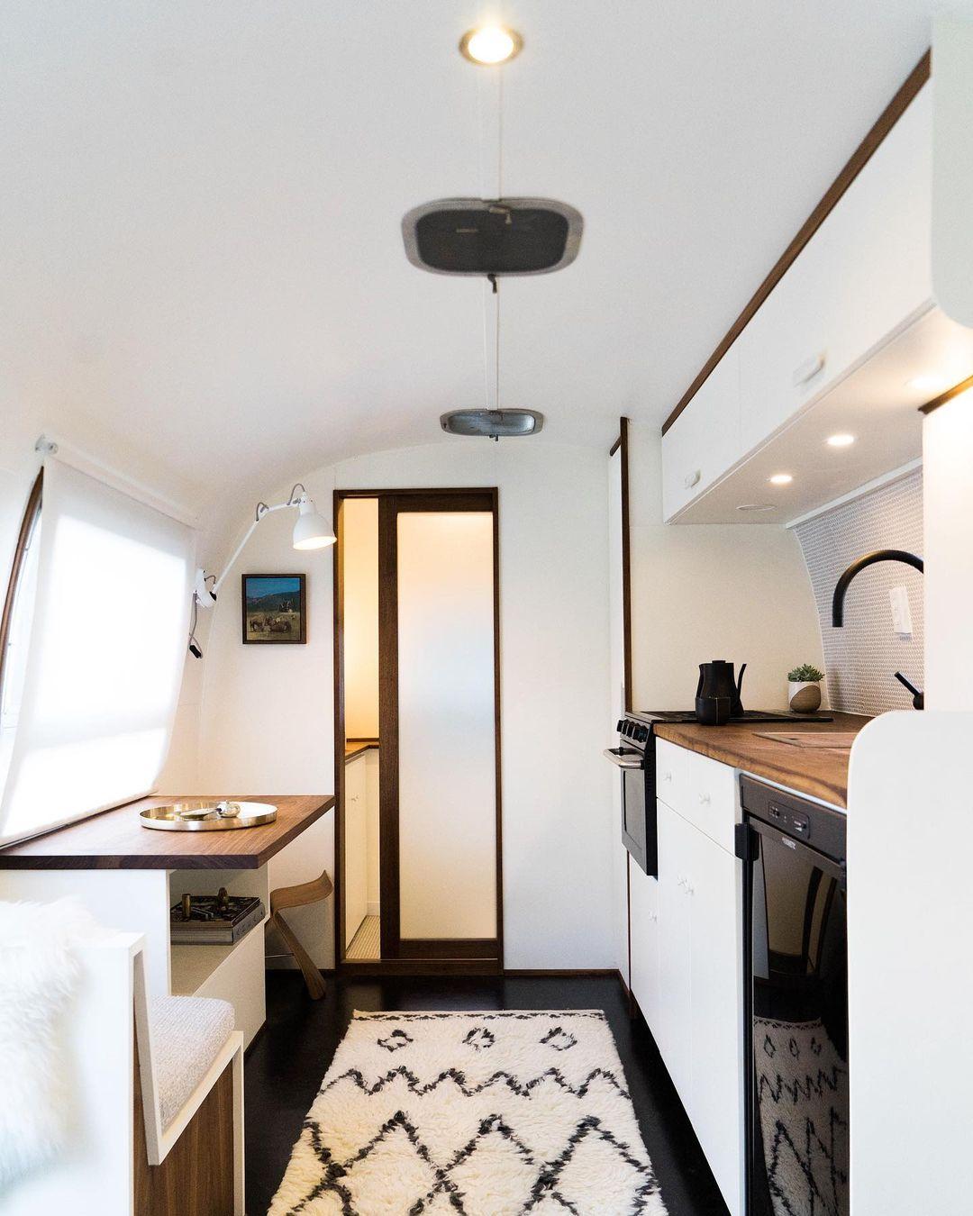 Airstream trailer Haus 1 - Interior designer turned heirloom Airstream into delightful home