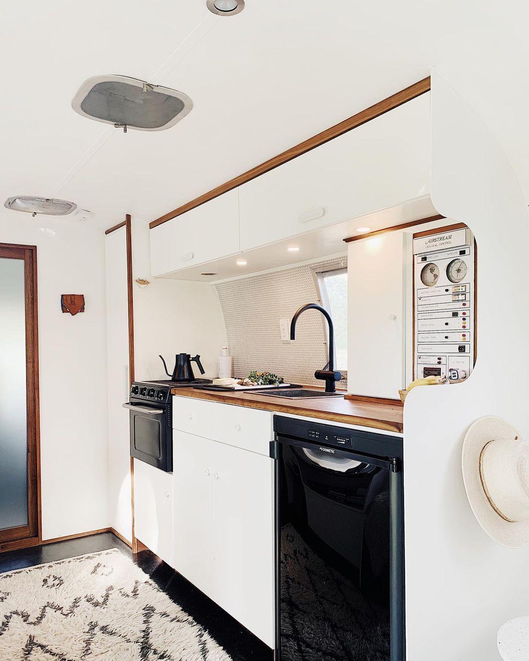 Airstream trailer Haus 14 - Interior designer turned heirloom Airstream into delightful home