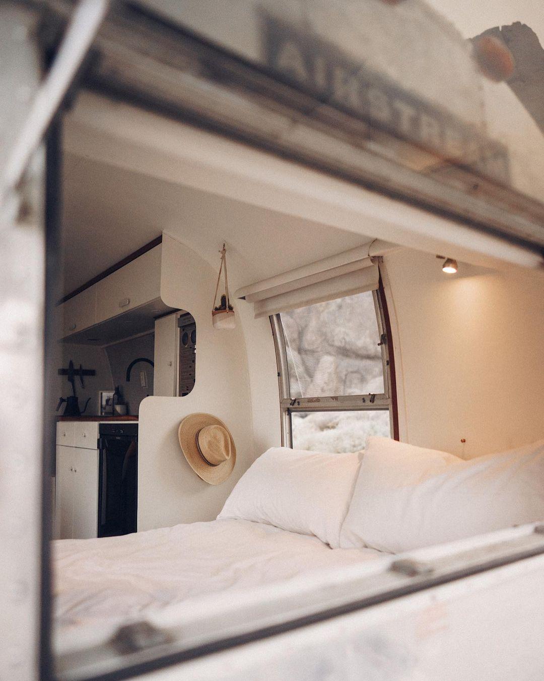 Airstream trailer Haus 20 - Interior designer turned heirloom Airstream into delightful home