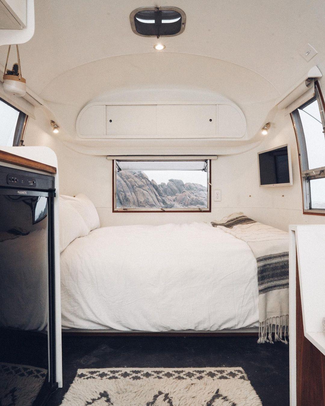Airstream trailer Haus 21 - Interior designer turned heirloom Airstream into delightful home