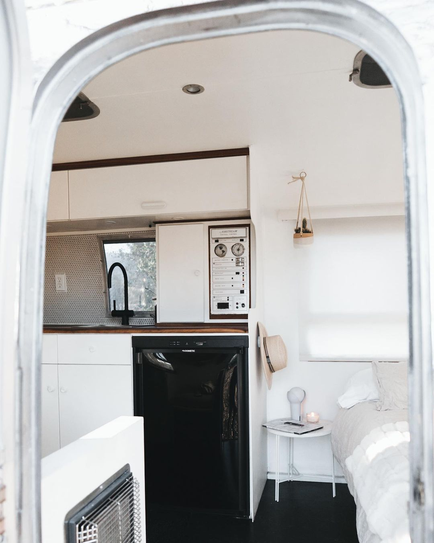 Airstream trailer Haus 23 - Interior designer turned heirloom Airstream into delightful home