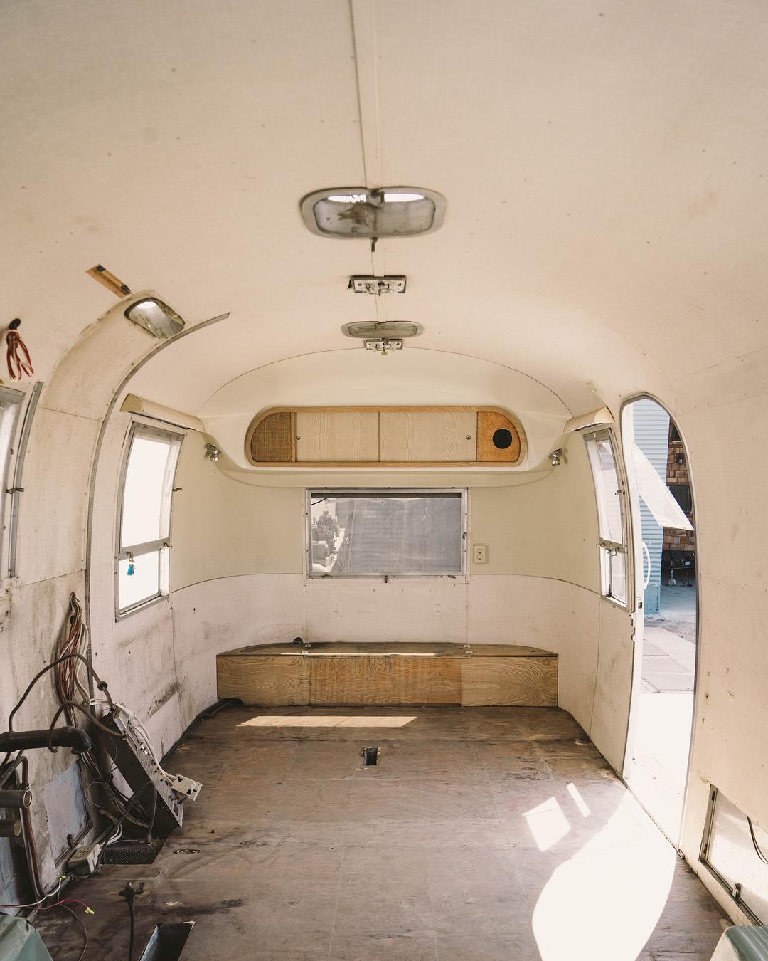airstream trailer - Interior designer turned heirloom Airstream into delightful home