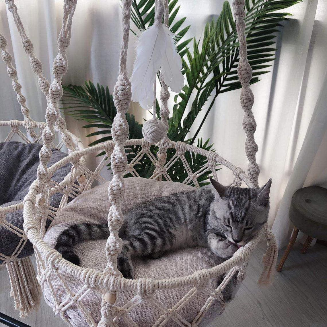cat hammock - 18 amazing pet furniture ideas that are perfect solutions for small spaces