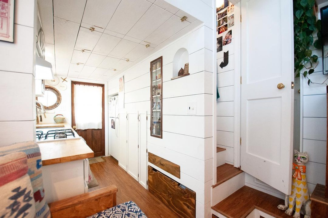 tiny house her tiny home 46 - Single mom built spectacular tiny home for herself and her daughter