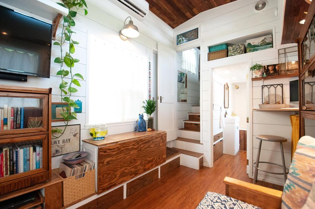 tiny house her tiny home 47 - Single mom built spectacular tiny home for herself and her daughter