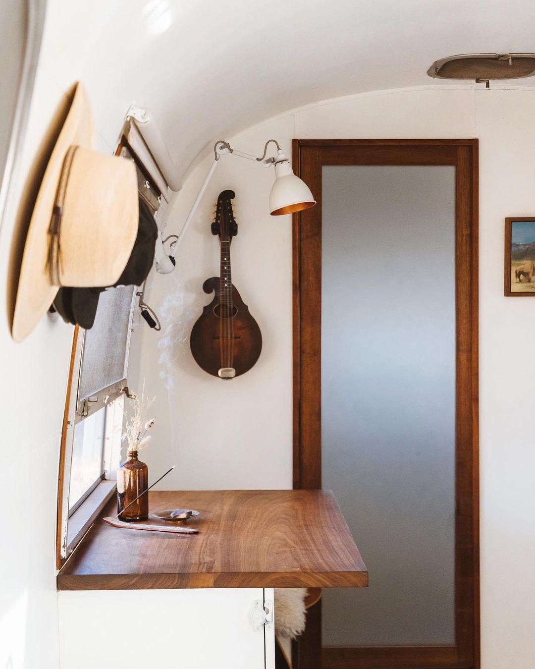 airstream trailer 2 - Interior designer turned heirloom Airstream into delightful home