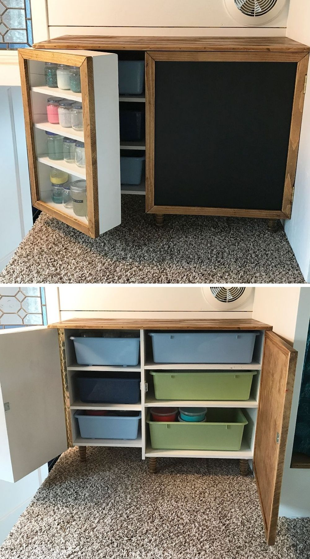 cabinet tiny house 1 - Single mom built spectacular tiny home for herself and her daughter